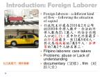 introduction foreign laborer
