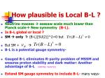 how plausible is local b l
