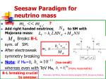 seesaw paradigm for neutrino mass