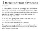 the effective rate of protection15