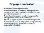 employee evacuation