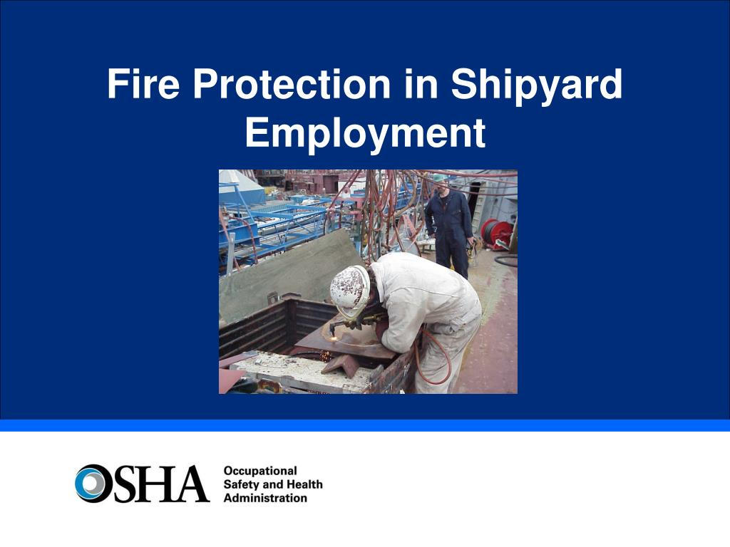 fire protection in shipyard employment l.