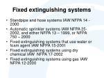 fixed extinguishing systems
