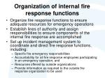 organization of internal fire response functions