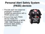 personal alert safety system pass devices