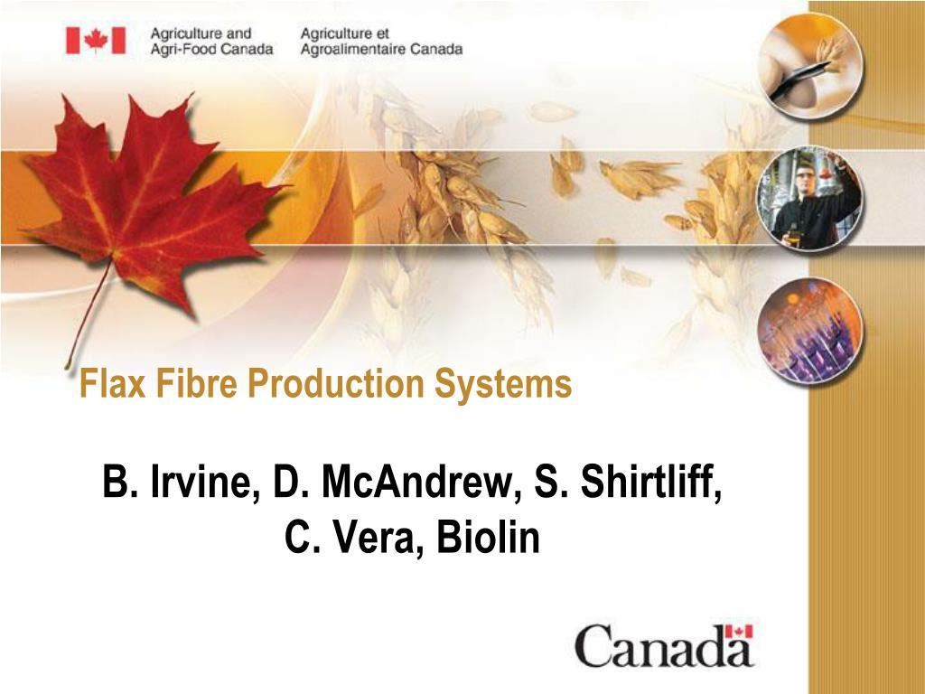 flax fibre production systems l.