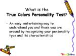 what is the true colors personality test