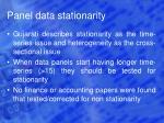 panel data stationarity