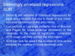 seemingly unrelated regressions sur