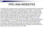pro ana websites
