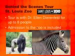 behind the scenes tour st louis zoo