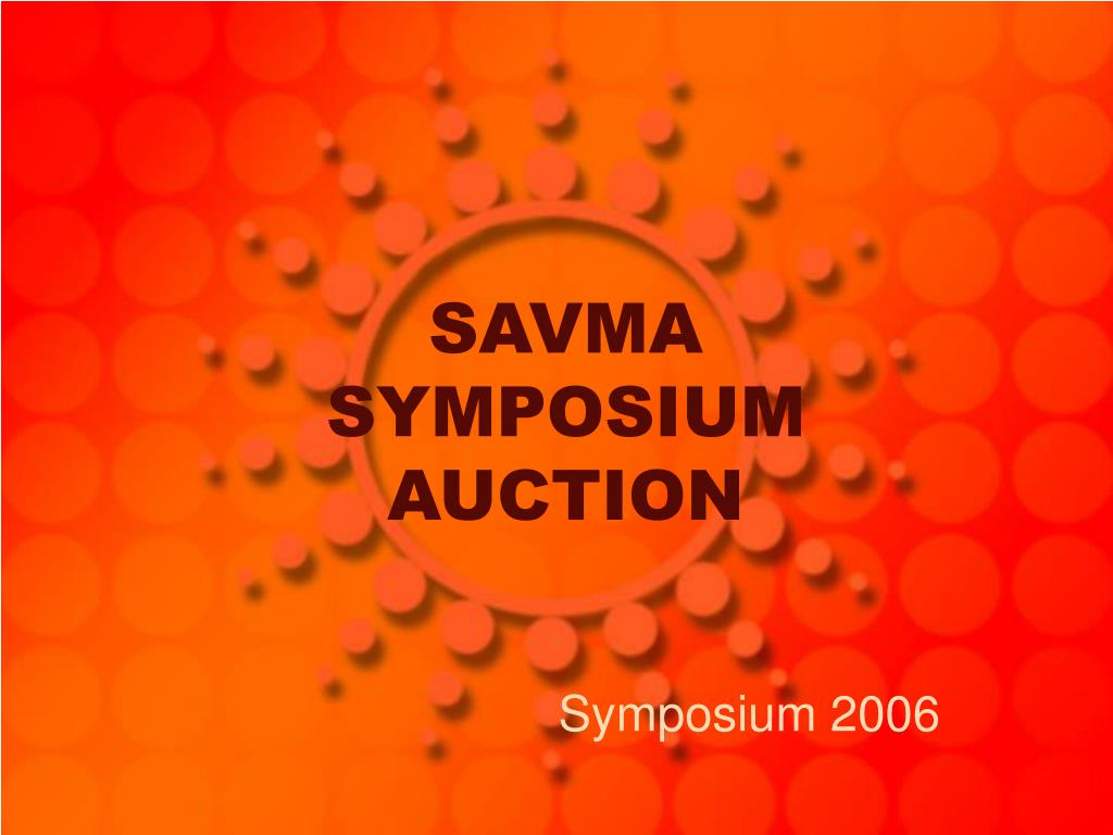 savma symposium auction l.