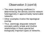 observation 3 cont d
