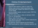 online entertainment