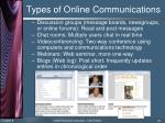 types of online communications35
