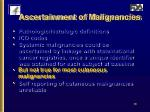 ascertainment of malignancies