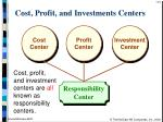 cost profit and investments centers8