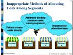 inappropriate methods of allocating costs among segments