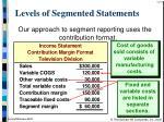levels of segmented statements14