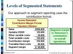 levels of segmented statements15