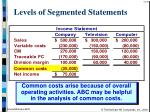 levels of segmented statements19