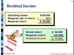 residual income42