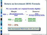 return on investment roi formula34