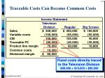 traceable costs can become common costs23
