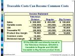 traceable costs can become common costs24