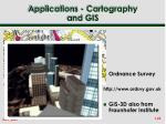 applications cartography and gis