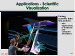 applications scientific visualization