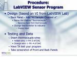 procedure labview sensor program