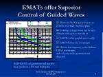 emats offer superior control of guided waves