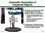 automatic generation of polygonal objects