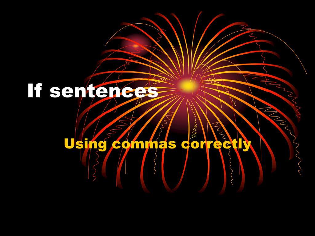 if sentences l.