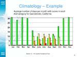 climatology example