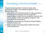 developing a numerical model 6 of 7