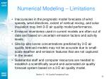 numerical modeling limitations