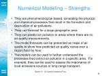 numerical modeling strengths