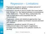 regression limitations