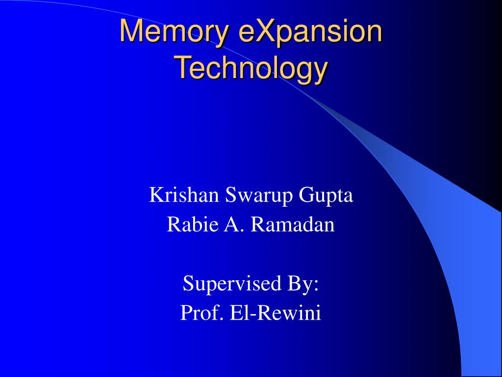 memory expansion technology l.