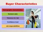 buyer characteristics35