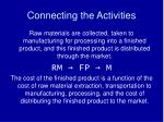 connecting the activities