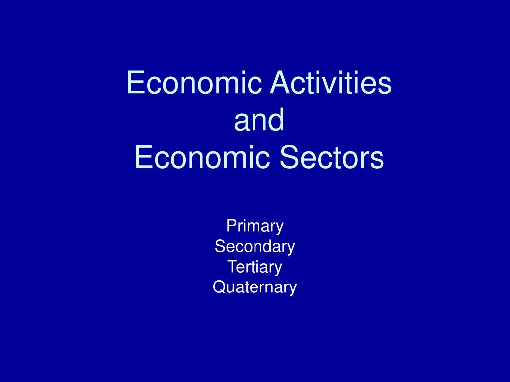 economic activities and economic sectors l.