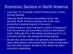economic sectors in north america