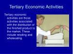 tertiary economic activities