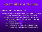 adult medical trauma