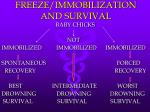 freeze immobilization and survival