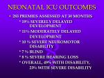 neonatal icu outcomes