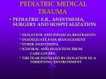 pediatric medical trauma35
